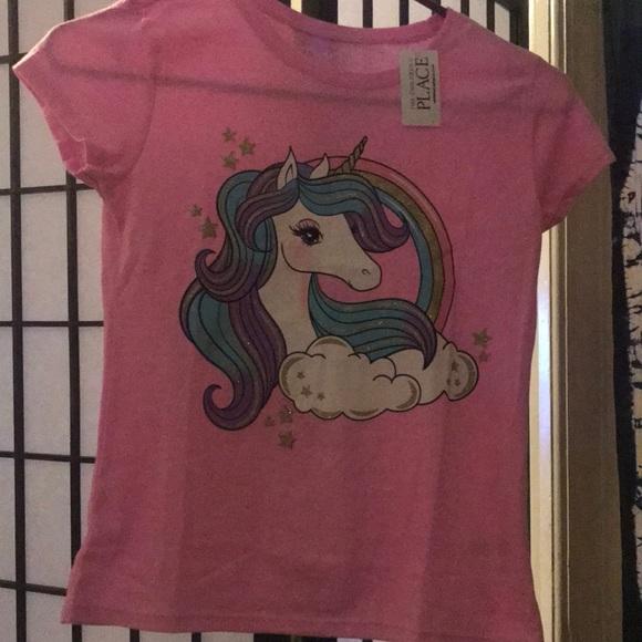 Girls Pink Unicorn T